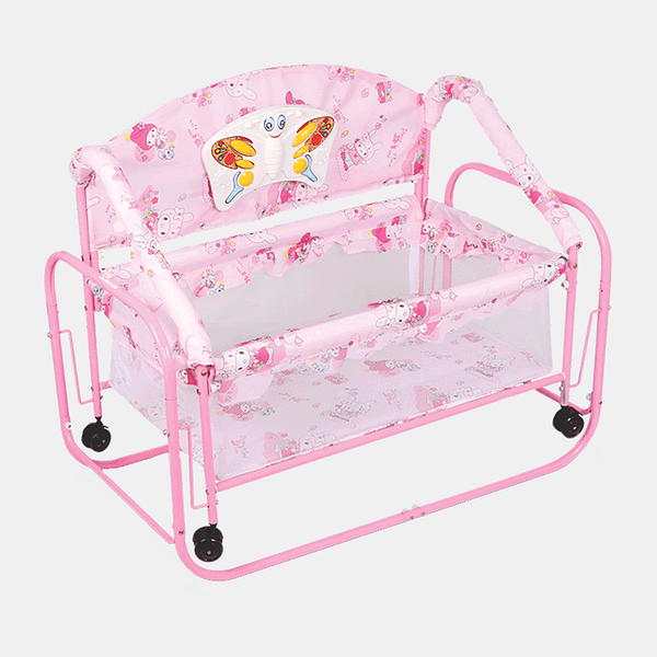 Baby Princess Cot and Cradle for Girls- Baby Crib - Bed - Pink