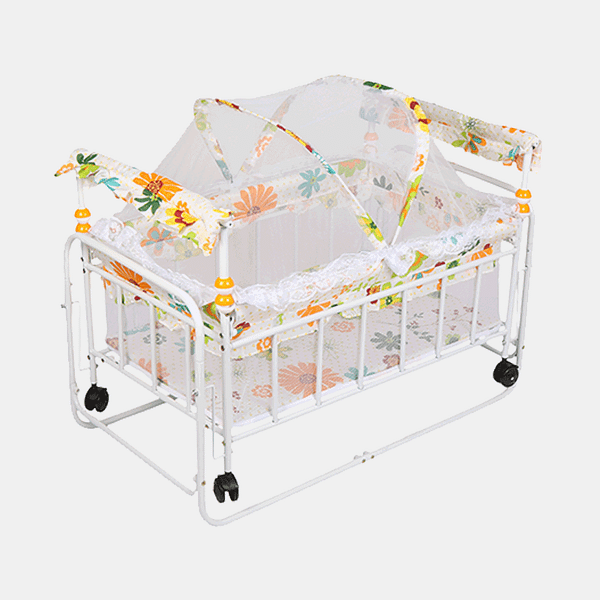 Little Kingdom Baby Cot and Cradle - Baby Crib - Bed - White Floral