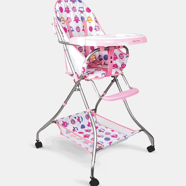 Baby Etiquette High Chair - Blush Pink