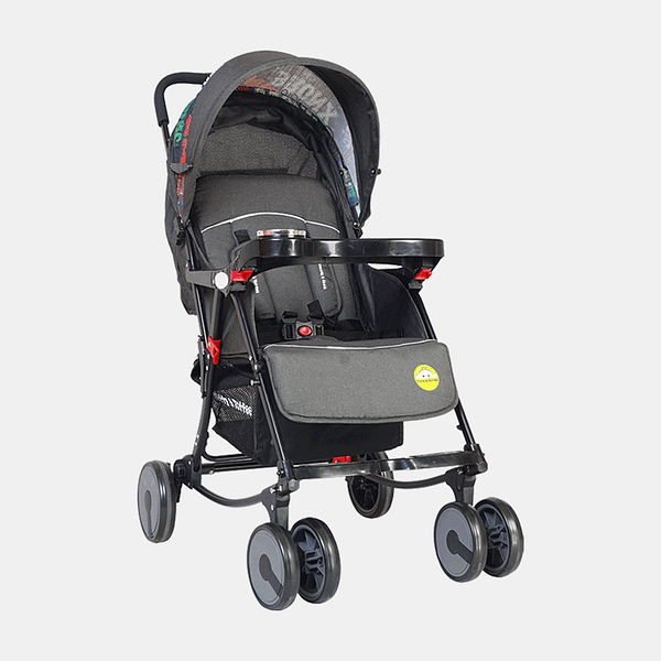 2 in 1 Rocking Stroller Prams Buggy - Dark Grey
