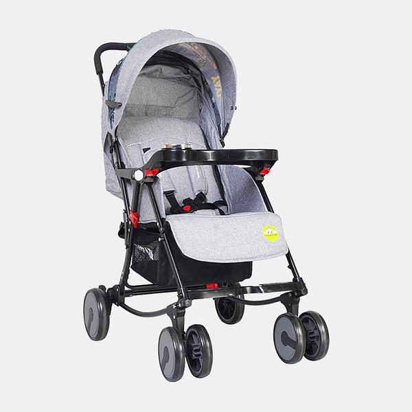 2 in 1 Rocking Stroller Prams Buggy -Grey