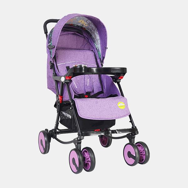 2 in 1 Rocking Stroller Prams Buggy -Purple