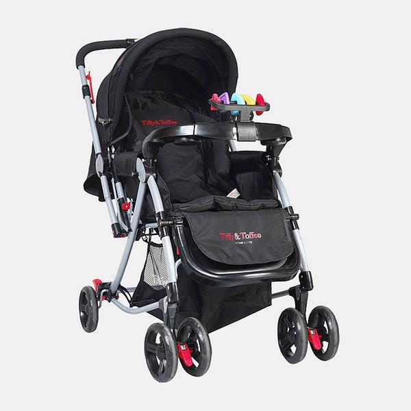3 in 1 Baby Stroller Pram Buggy - Black - Front
