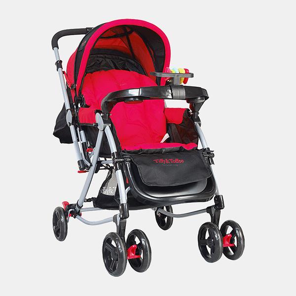 3 in 1 Baby Stroller Pram Buggy - Red - Front