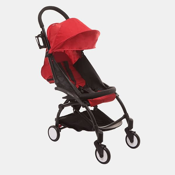 Portable Clever Baby Stroller Pram Buggy - Red - Side