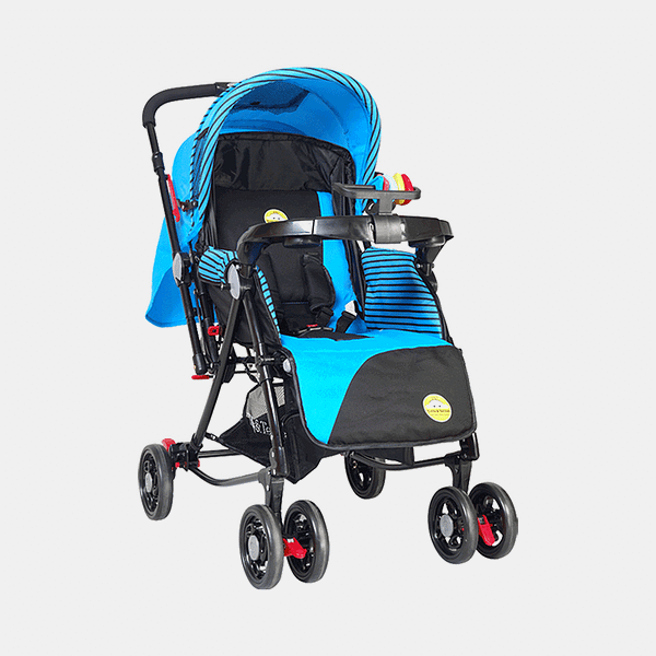 Grand 3 in 1 Baby Stroller – Blue, Amazon - Prams Buggy