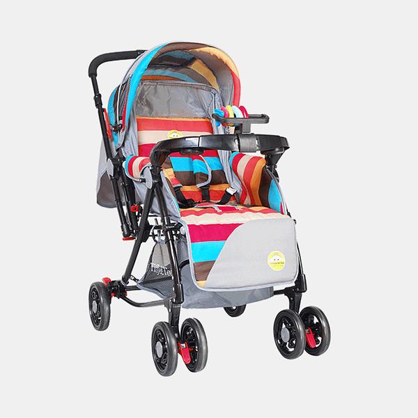 3 in 1 Baby Stroller Pram Buggy - Multicoloured - Front