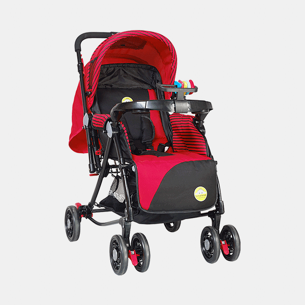 Grand 3 in 1 Baby Stroller Pram Buggy - Red - Front