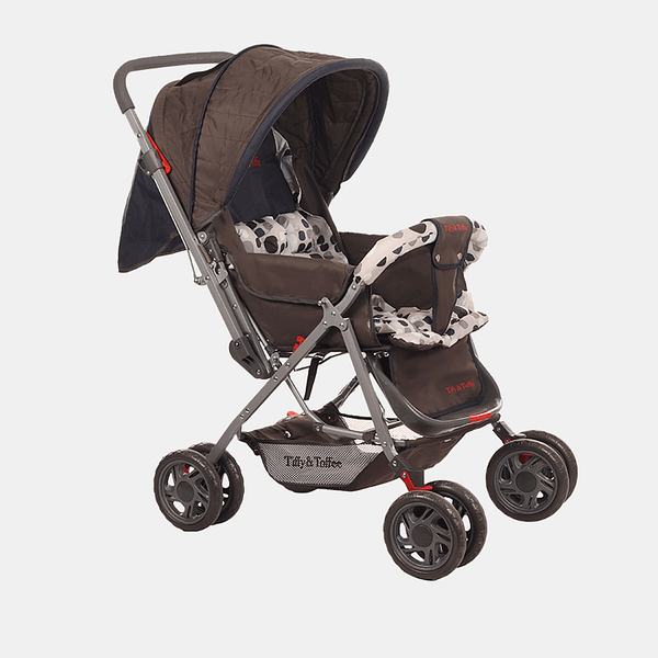 Smart and Safe Baby Stroller Prams Buggy - Navy Blue