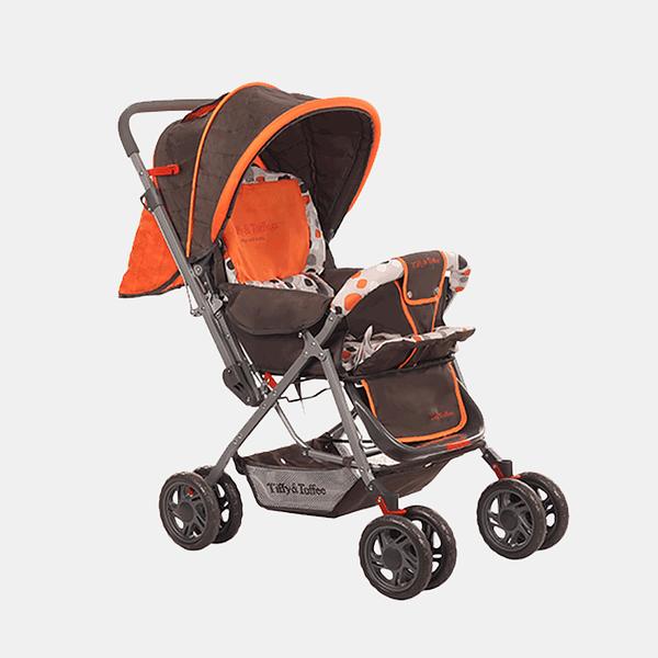 Smart and Safe Baby Stroller Prams Buggy - Orange