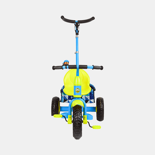 Kids Tricycle - Smart Safe - Blue Yellow - Front