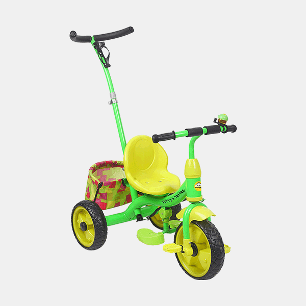Kids Tricycle - Smart Safe - Green Yellow - Side
