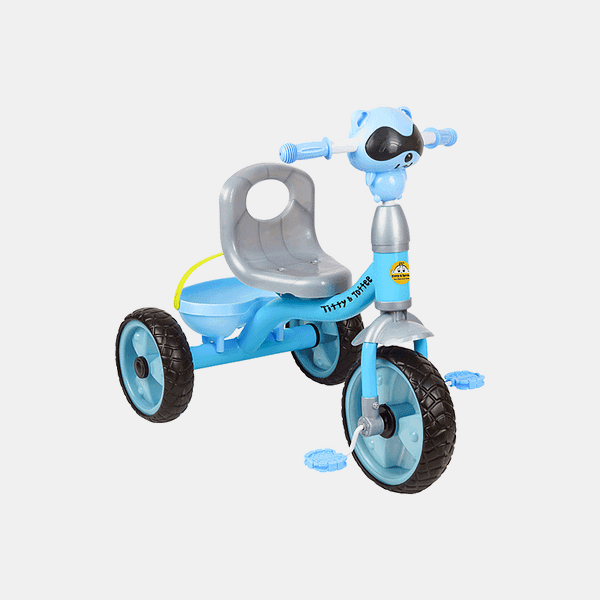 Cruze Kids Tricycle - Blue - Side
