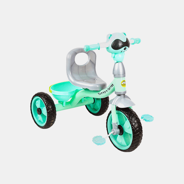 Cruze Kids Tricycle - Light Blue - Side