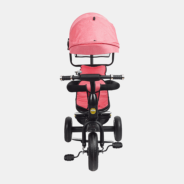 Kids Tricycle - Fully Loaded Bike Trike - Pink - Front