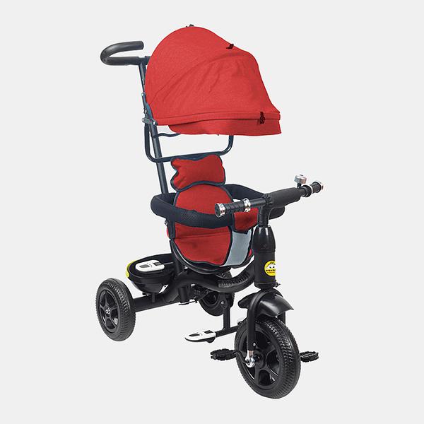 Kids Tricycle - Fully Loaded Bike Trike - Red - Side