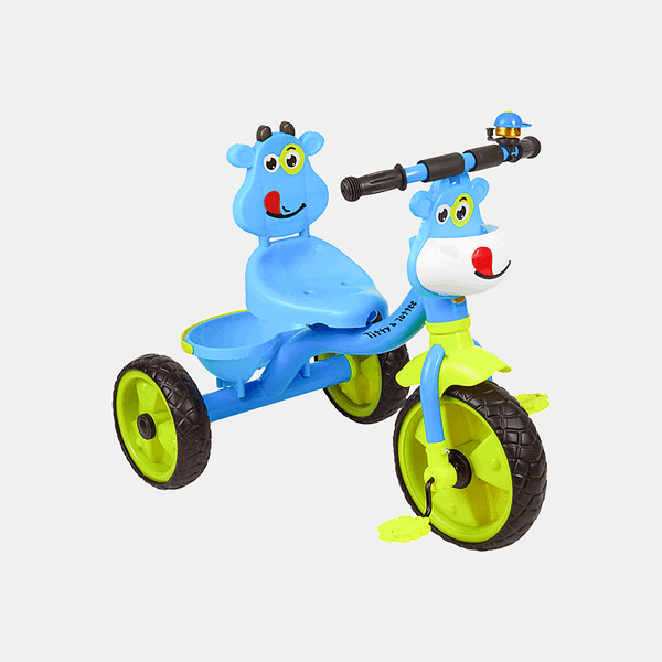 Happy Rider Kids Tricycle - Blue - Front