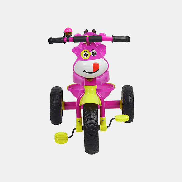 Happy Rider Kids Tricycle - Pink - Front