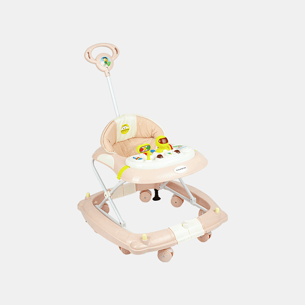 2 in 1 Baby Walker - Early Learning - Apricot - Side