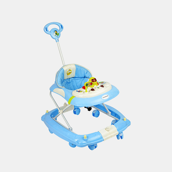 2 in 1 Baby Walker - Early Learning - Pastel Blue - Side