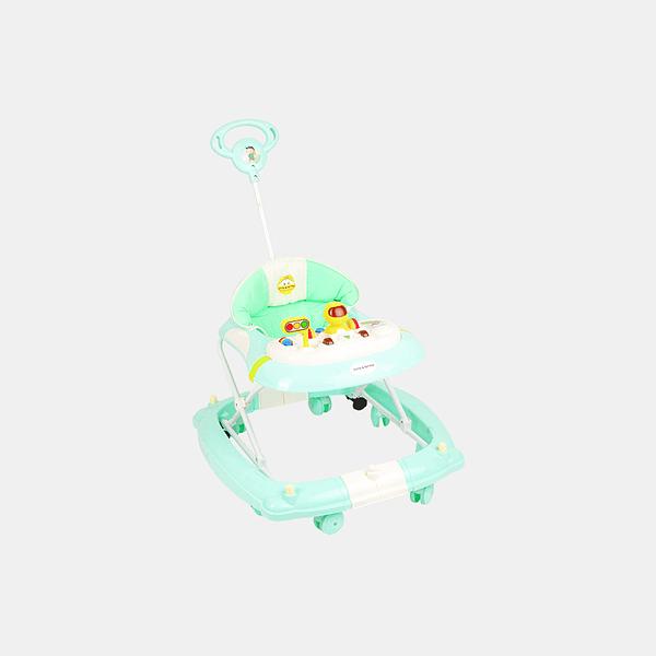 2 in 1 Baby Walker - Early Learning - Pastel Green - Side
