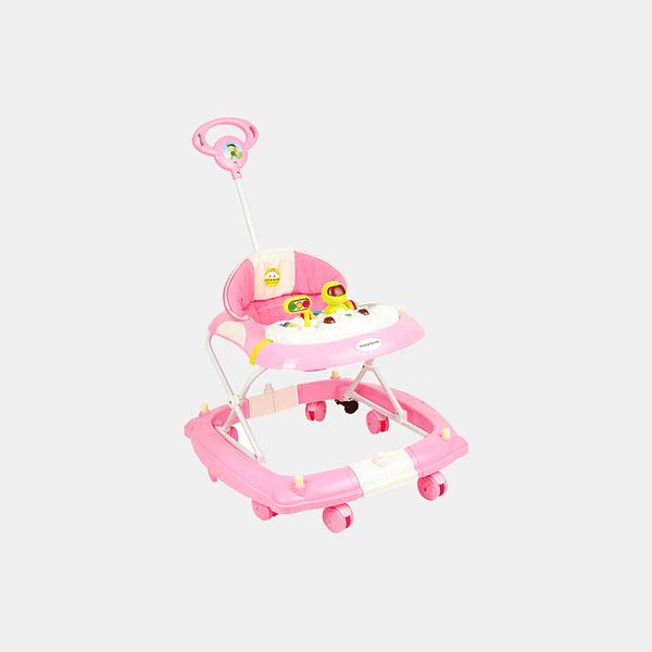 2 in 1 Baby Walker - Early Learning - Pastel Pink - Side