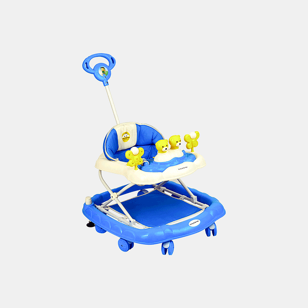 2 in 1 Baby Walker - Early Learning - Blue - Side