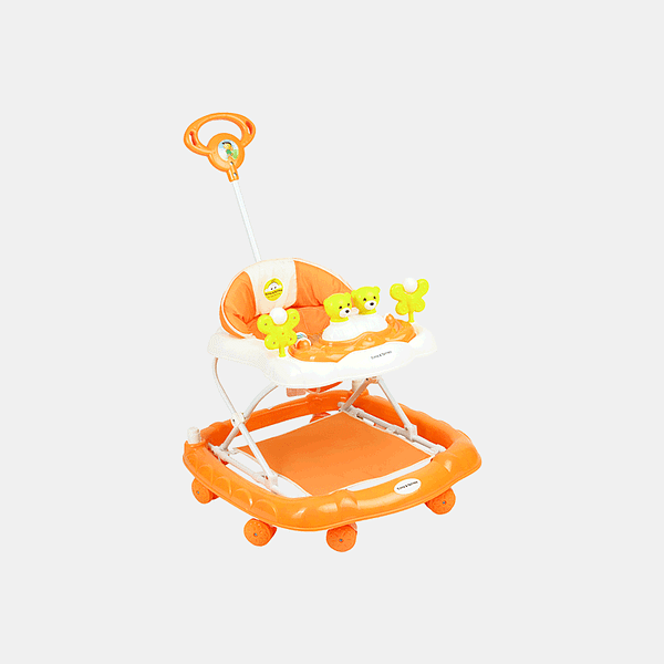 2 in 1 Baby Walker - Early Learning - Orange - Side