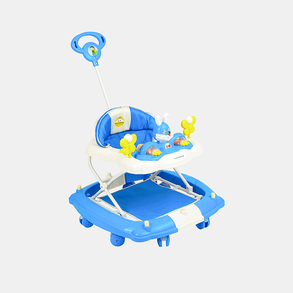 Multifunctional Baby Walker - Blue - Side