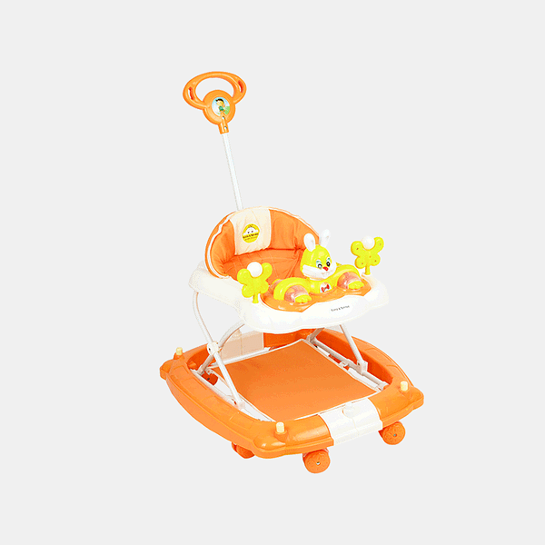 Multifunctional Baby Walker - Orange - Side