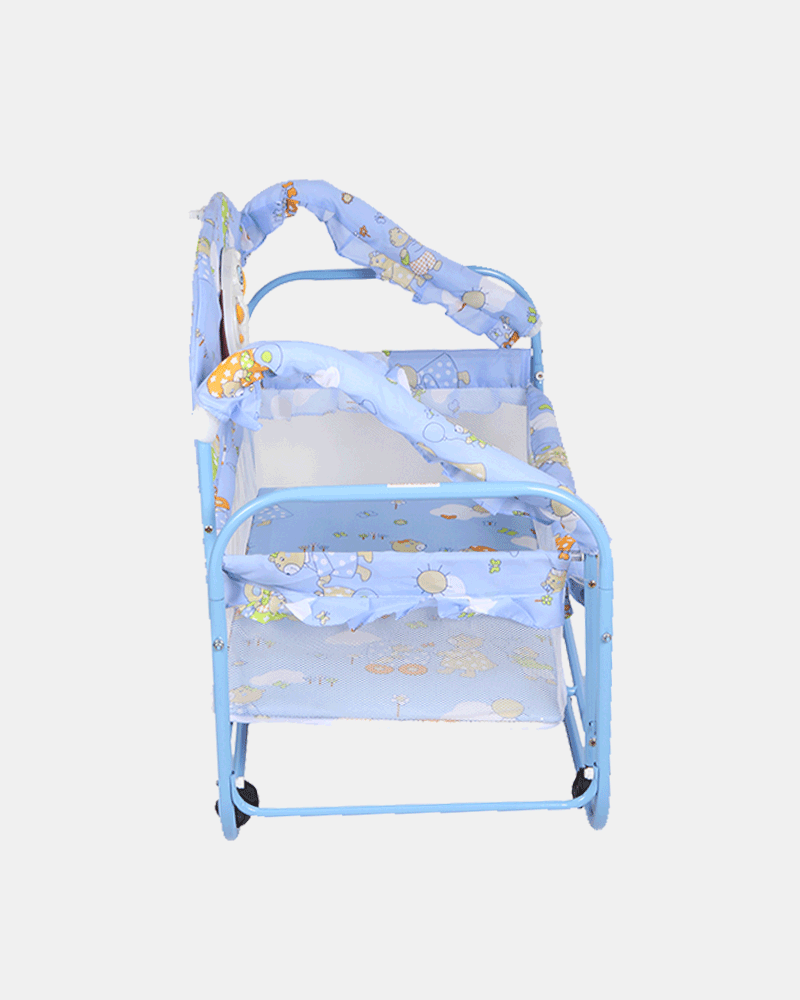 Baby Prince Cot and Cradle for Boys - Baby Crib - Bed - Blue