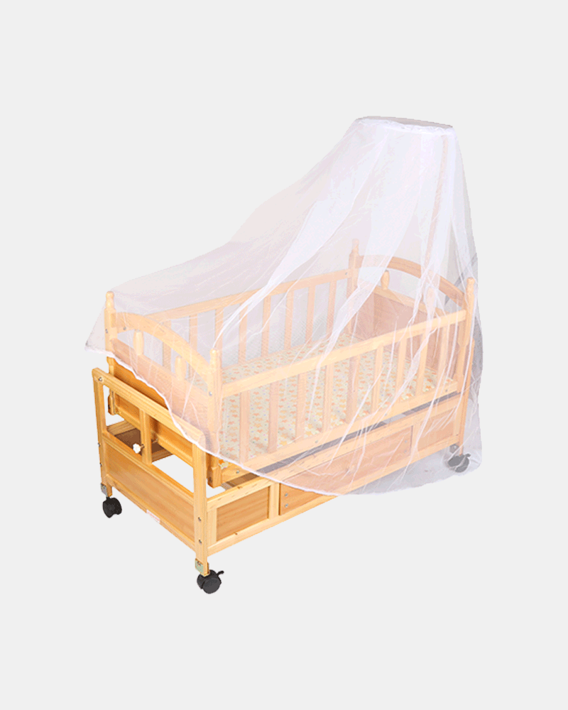 Premium Luxury Wooden Cot and Cradle - Baby Crib - Bed
