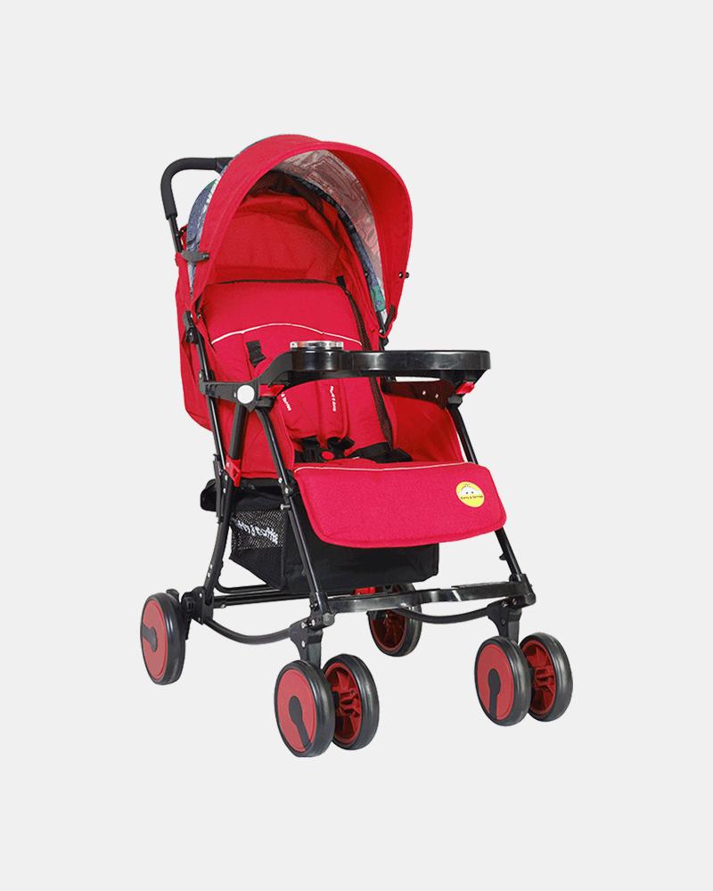2 in 1 Rocking Stroller Prams Buggy - Red