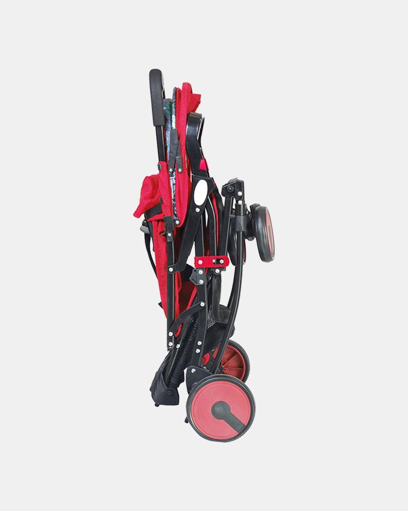 2 in 1 Rocking Stroller Prams Buggy -Red