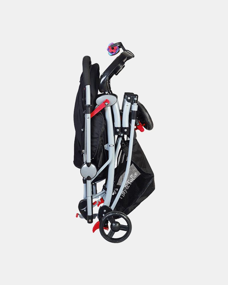 3 in 1 Baby Stroller Pram Buggy - Black - Folding