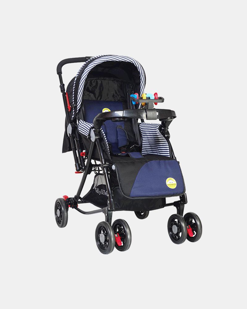 Grand 3 in 1 Baby Stroller Pram Buggy - Dark Blue - Front