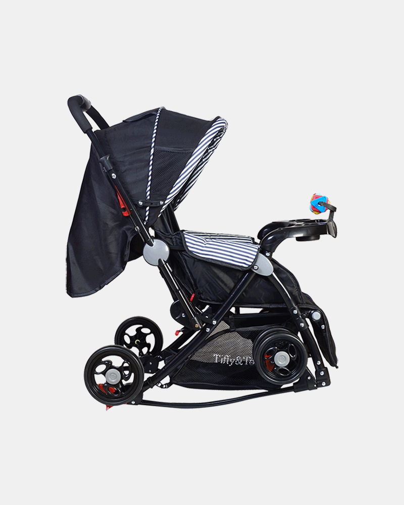 Grand 3 in 1 Baby Stroller Pram Buggy - Dark Blue - Side