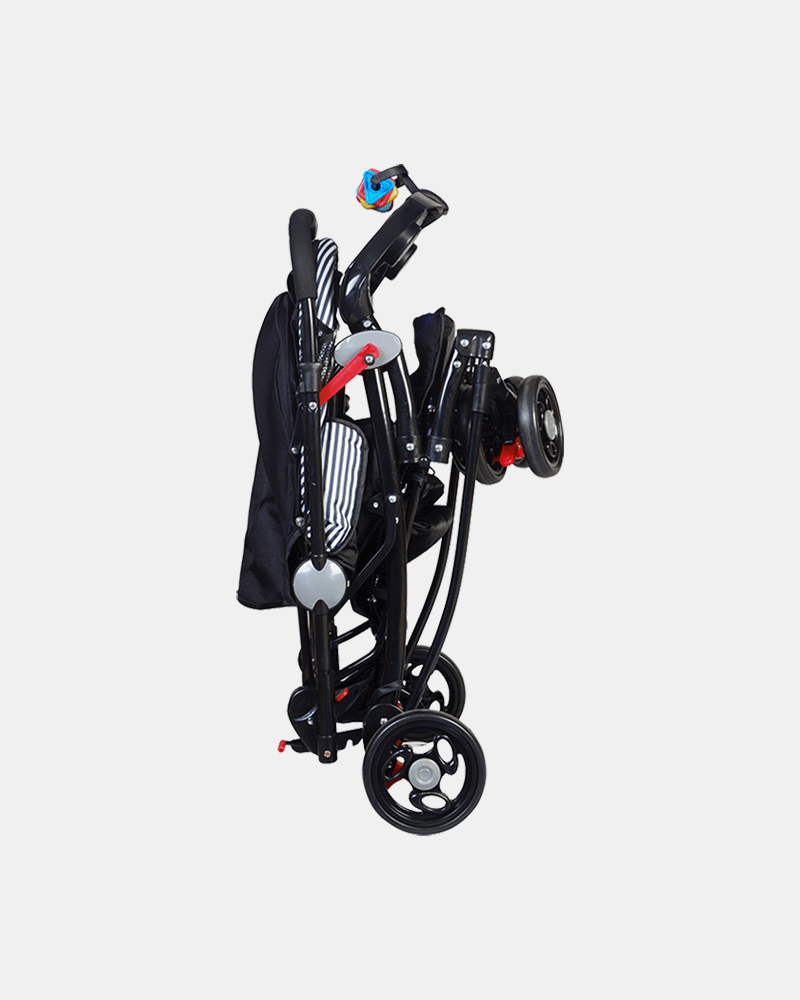 Grand 3 in 1 Baby Stroller Pram Buggy - Dark Blue - Folding