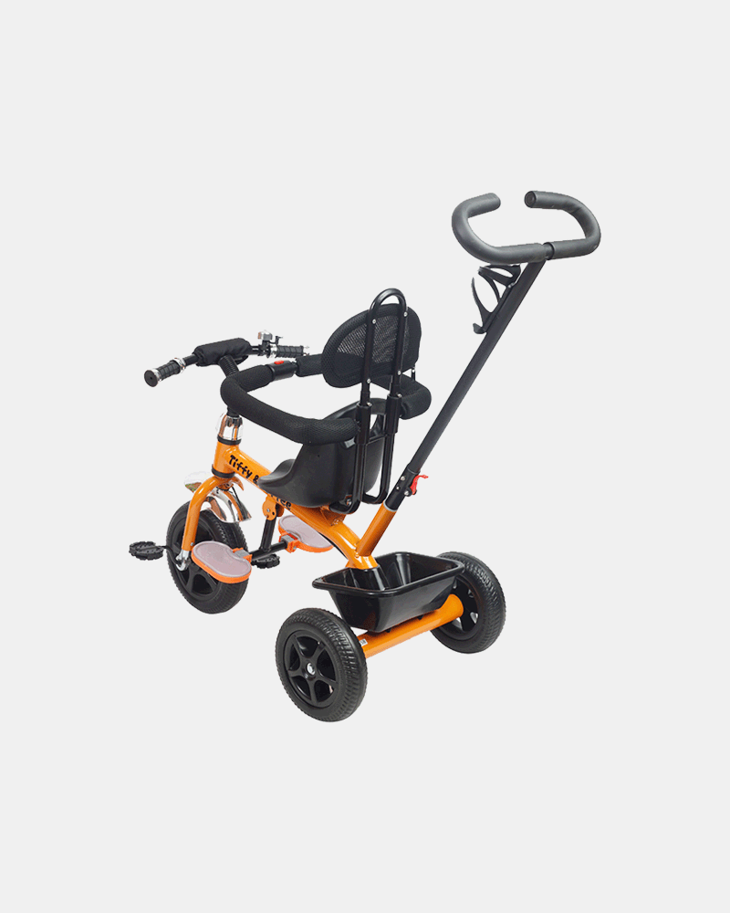 Kids Tricycle - Navigator Bike - Orange Black - Back