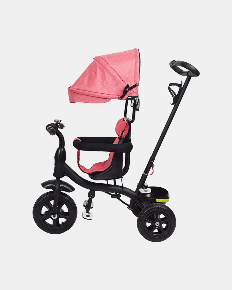 Kids Tricycle - Fully Loaded Bike Trike - Pink - Side