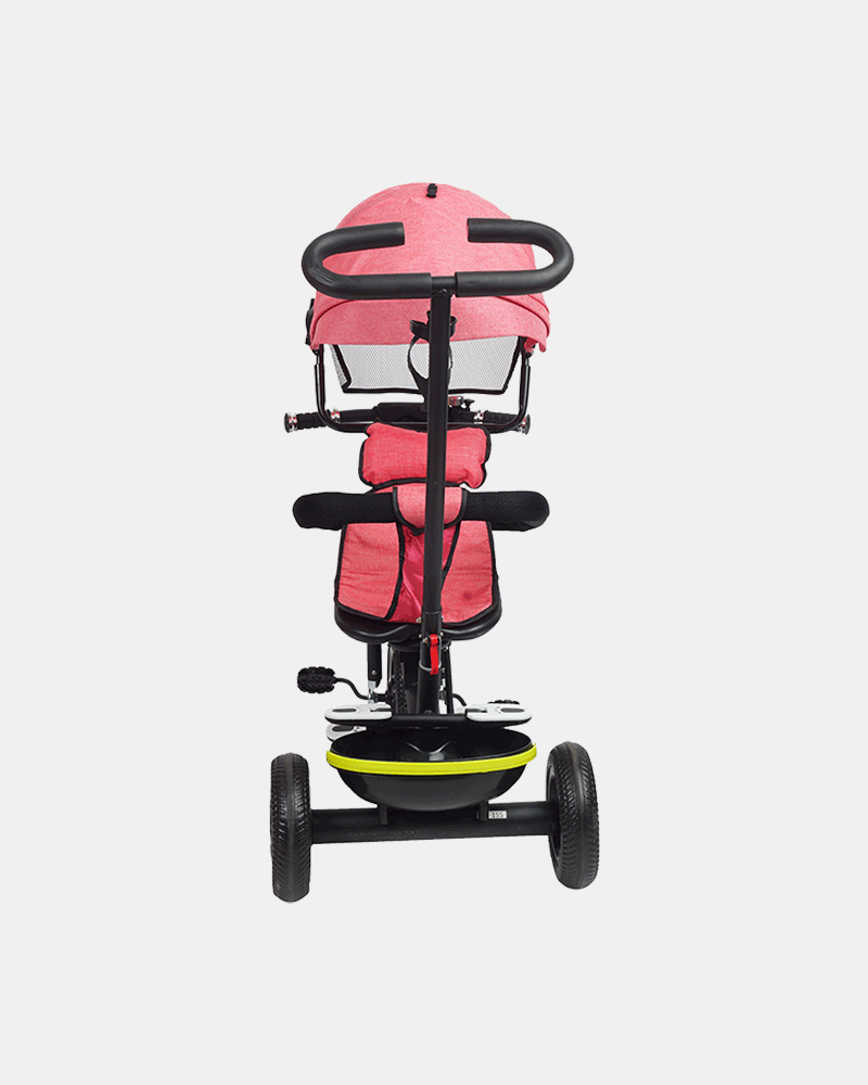 Kids Tricycle - Fully Loaded Bike Trike - Pink - Back