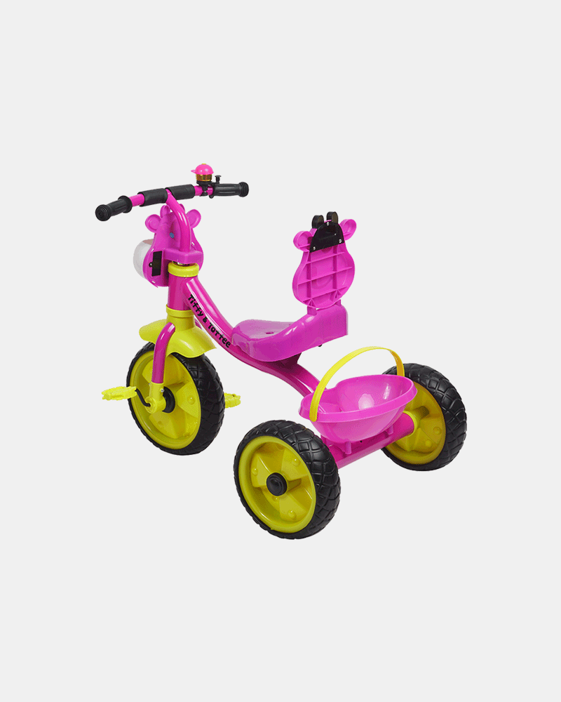 Happy Rider Kids Tricycle - Pink - Back