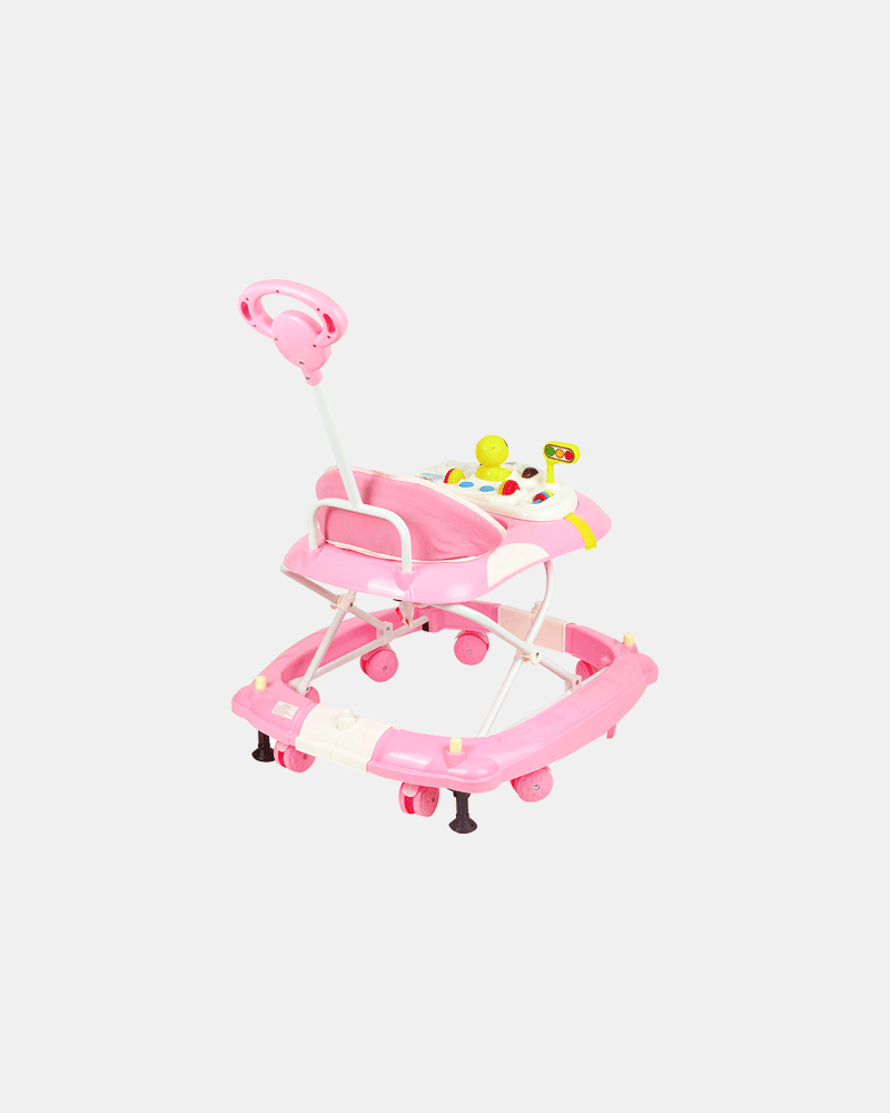 2 in 1 Baby Walker - Early Learning - Pastel Pink - Back