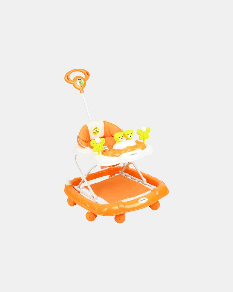 2 in 1 Baby Walker - Early Learning - Orange - Side