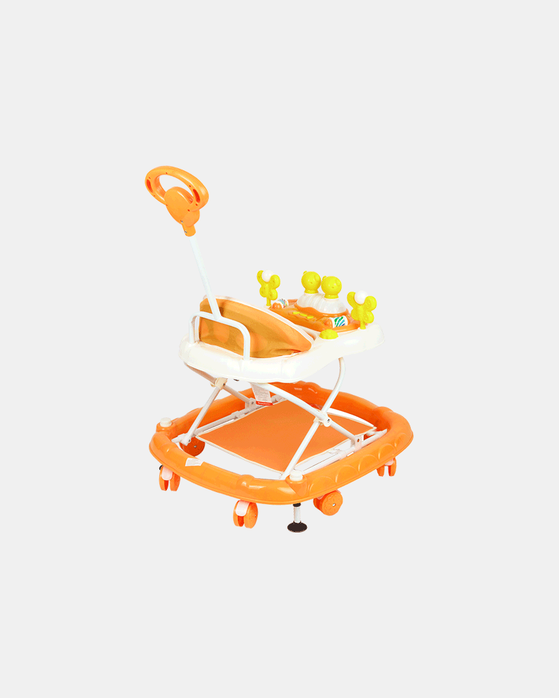 2 in 1 Baby Walker - Early Learning - Orange - Back