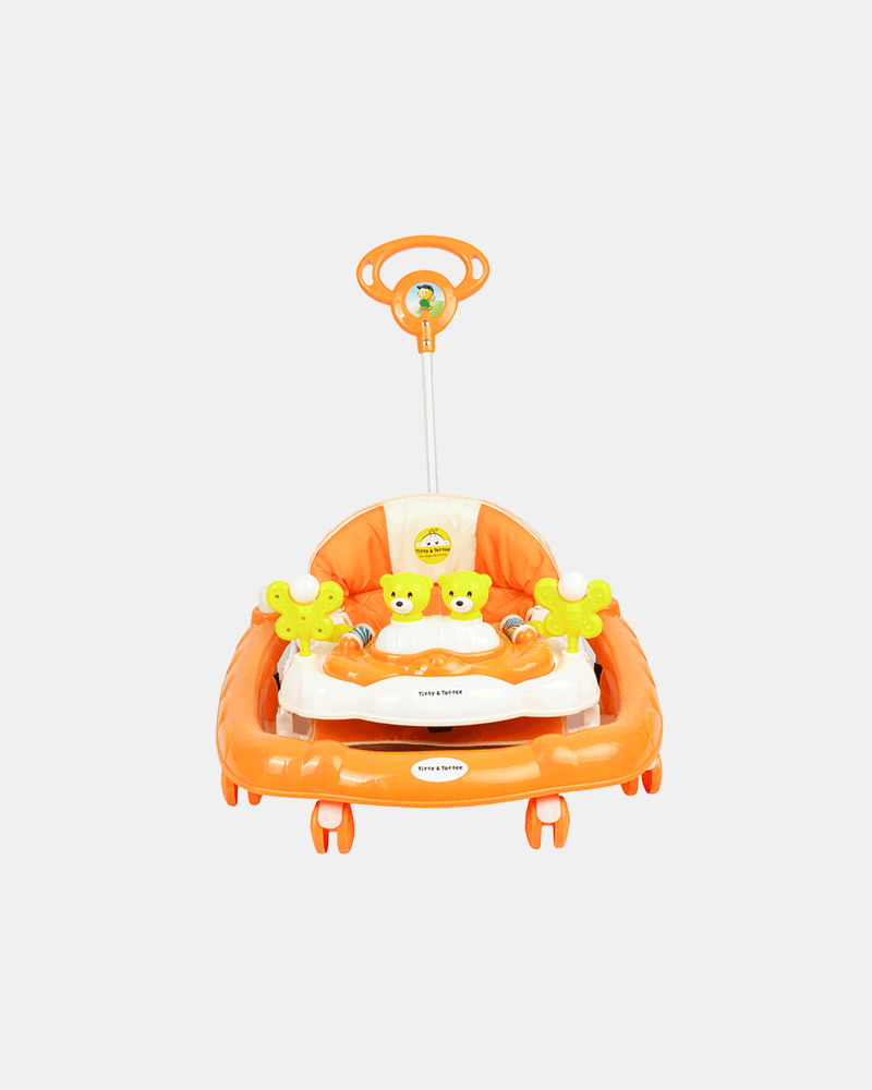 2 in 1 Baby Walker - Early Learning - Orange - Front