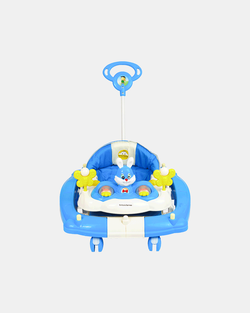Multifunctional Baby Walker - Blue - Front