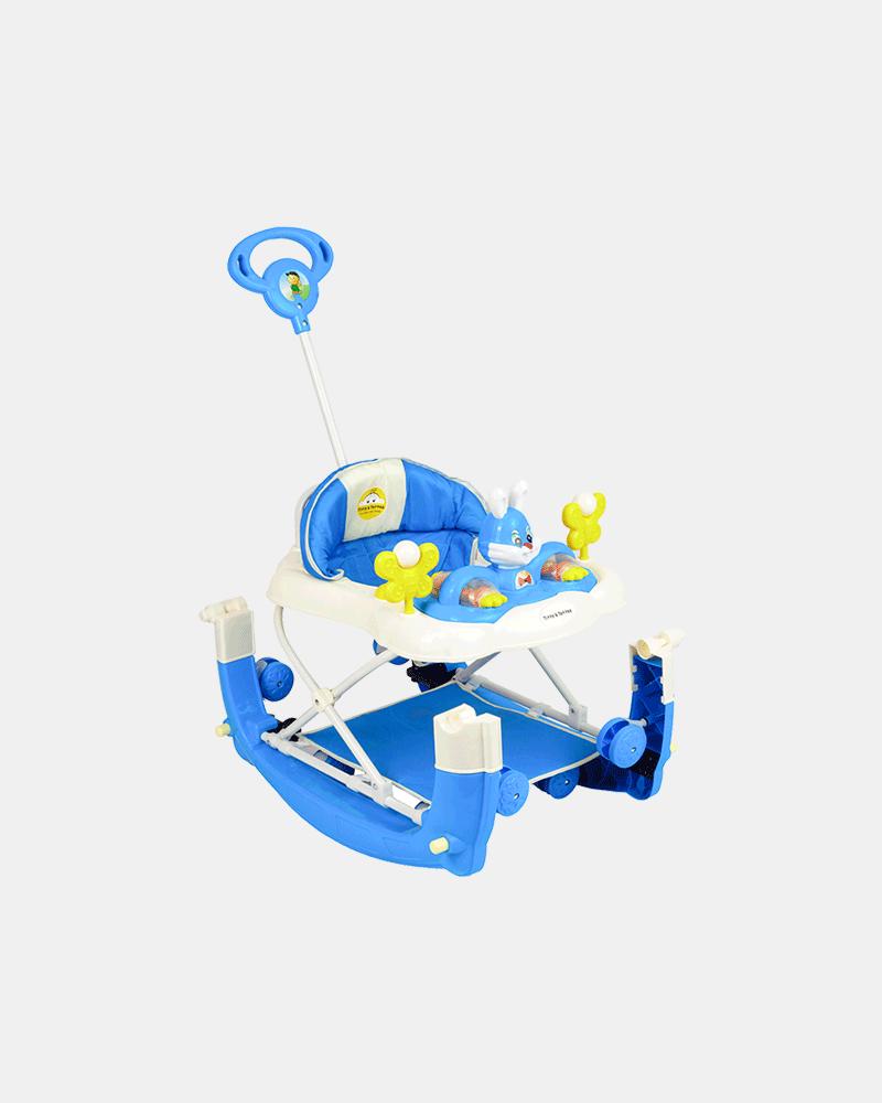 Multifunctional Baby Walker - Blue - Side