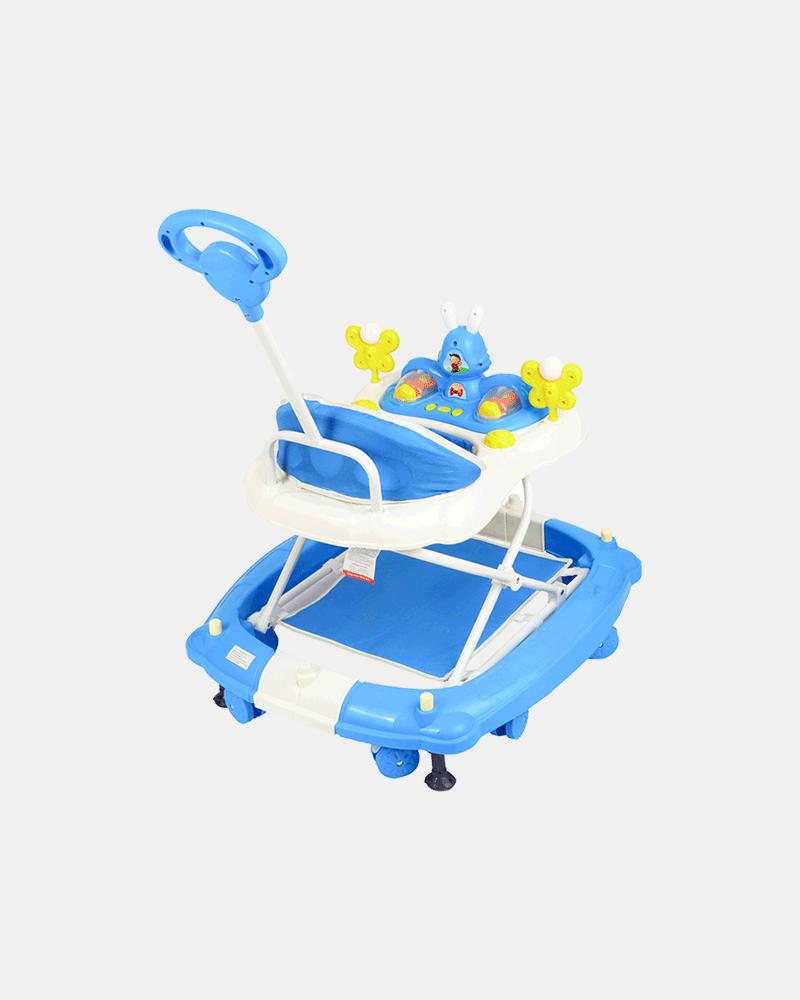Multifunctional Baby Walker - Blue - Back