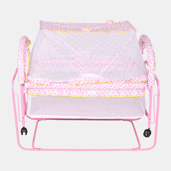 Happy Dream Baby Cot and Cradle - Baby Crib - Bed - Pink
